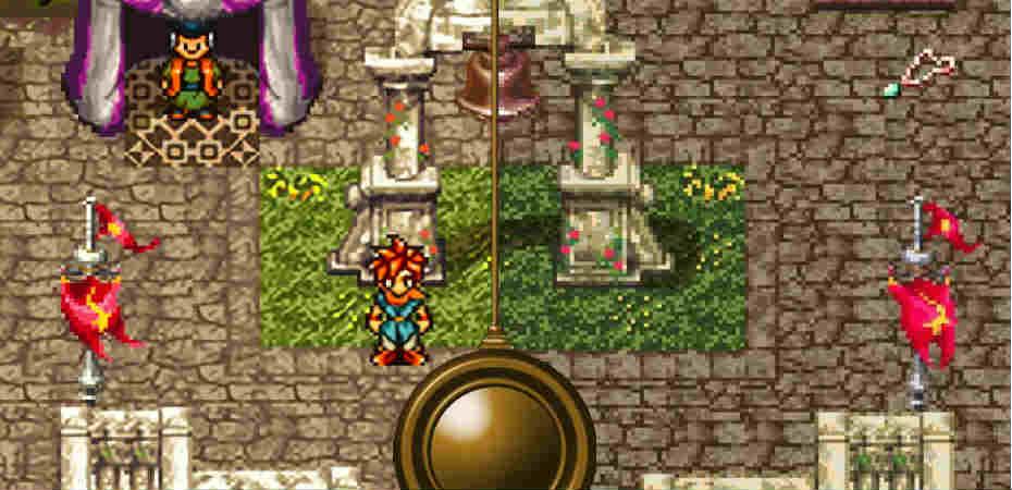 Imagem exibindo gráficos de Chrono Trigger para PC e SNES