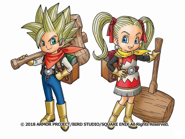 Artwork dos protagonistas de Dragon Quest Builders 2