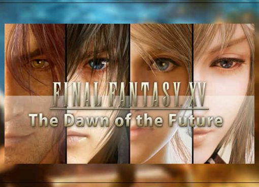 Imagem exibindo banner de Final Fantasy XV: The Dawn of the Future