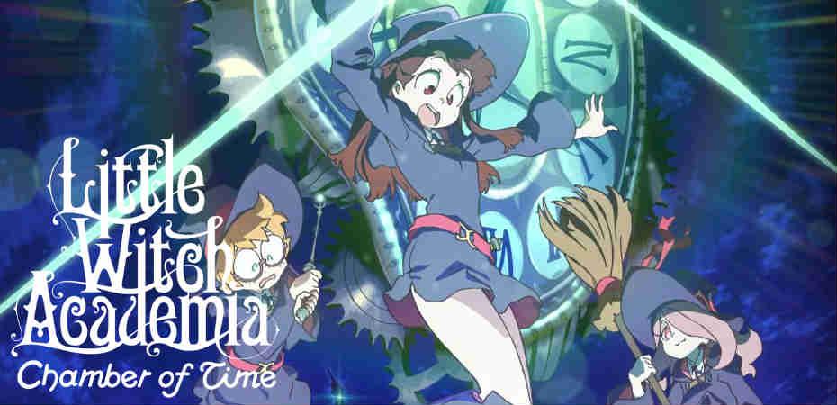 Ilustração e logo de Little Witch Academia: Chamber of Time