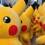 Foto de exercito de Pikachu não necessariamente relacionado ao futuro parque de Pokémon