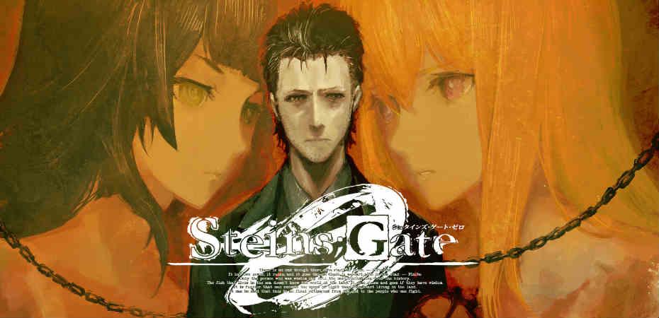 Ilustração e logo de Steins;Gate 0