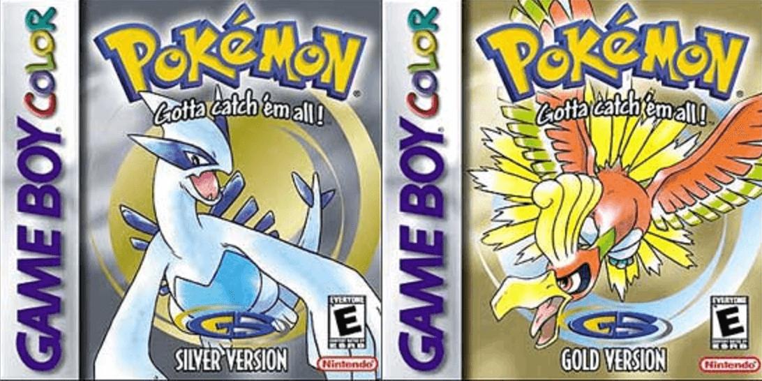 Capas norte-americanas de Pokémon Gold e Silver