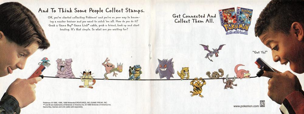Scan de propaganda para Pokémon Red e Blue