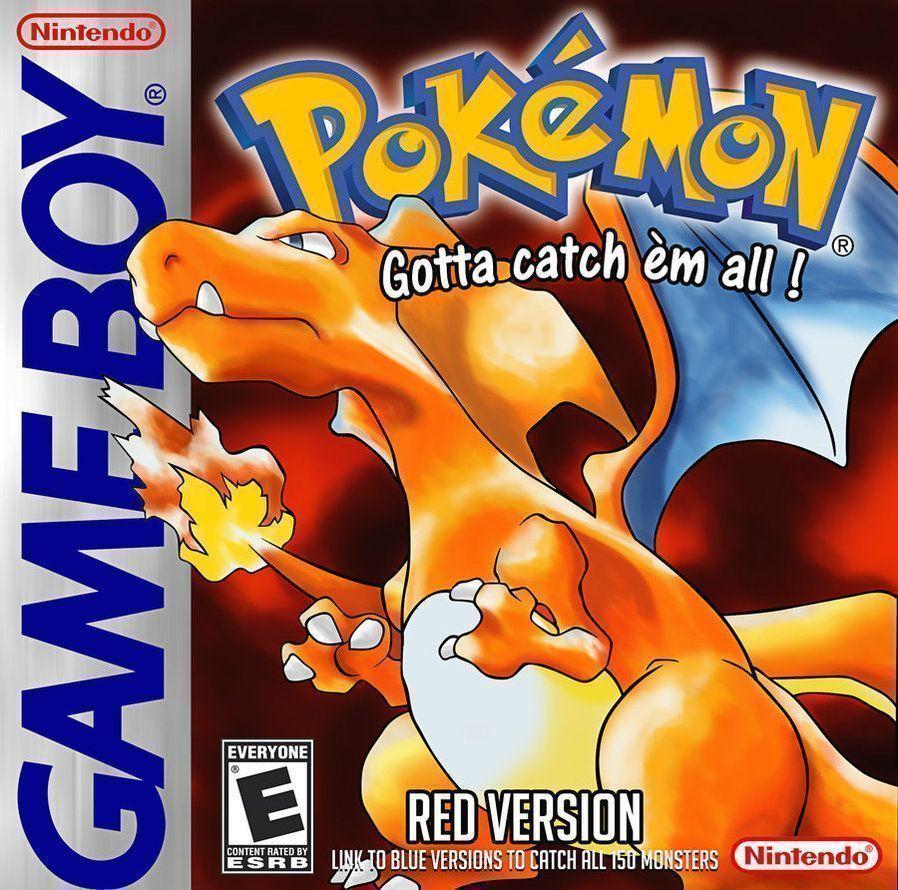Ilustração da capa norte-americana de Pokémon Red