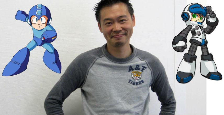 Foto de Keiji Inafune, criador do Mega Man e de um de seus sucessores espirituais, Mighty No. 9
