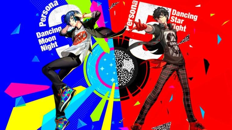 Arte dos mais novos jogos da série Persona