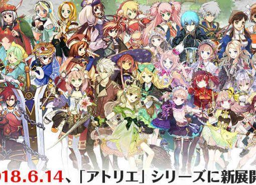Arte de todos os personagens principais da série Atelier
