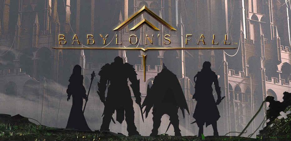 Screenshot e logo de Babylon's Fall