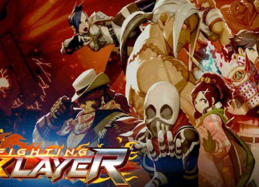 Arte e logo do jogo Fighting Ex Layer