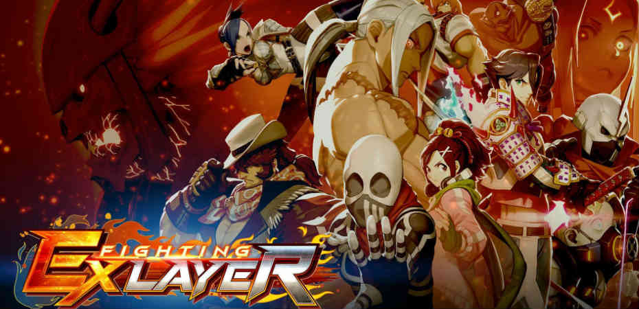 Arte e logo do jogo Fighting Ex Layer