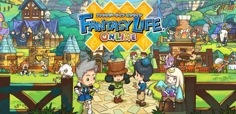 Artwork e logo de Fantasy Life Online