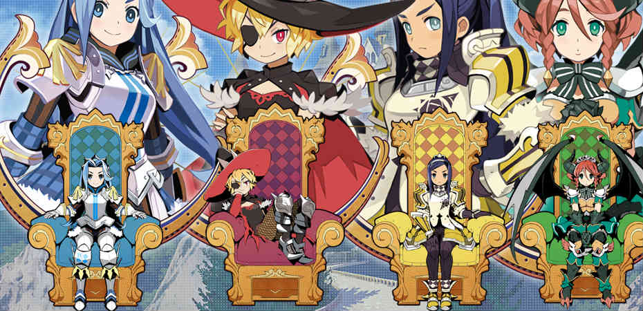 Arte das personagens de The Princess Guide