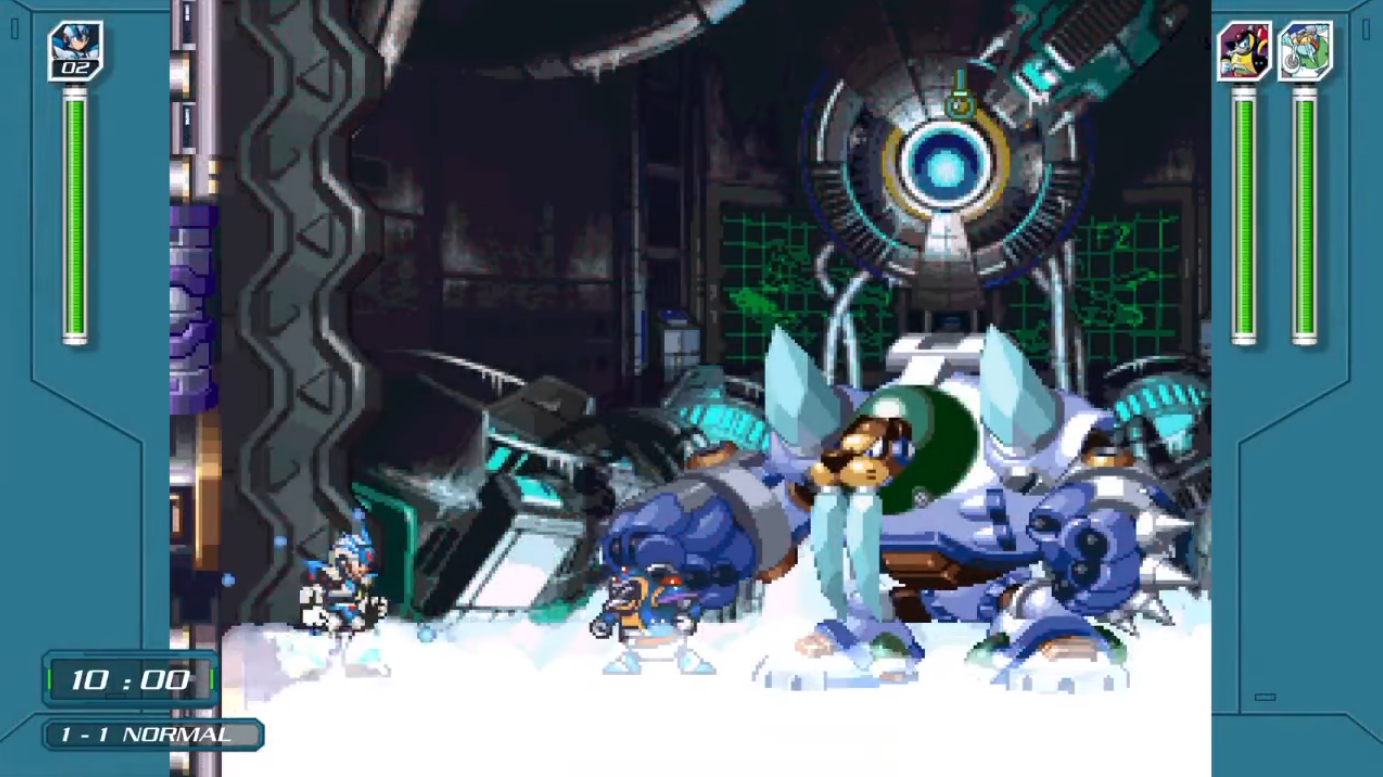 X-Challenge em Mega Man X Legacy Collection 1
