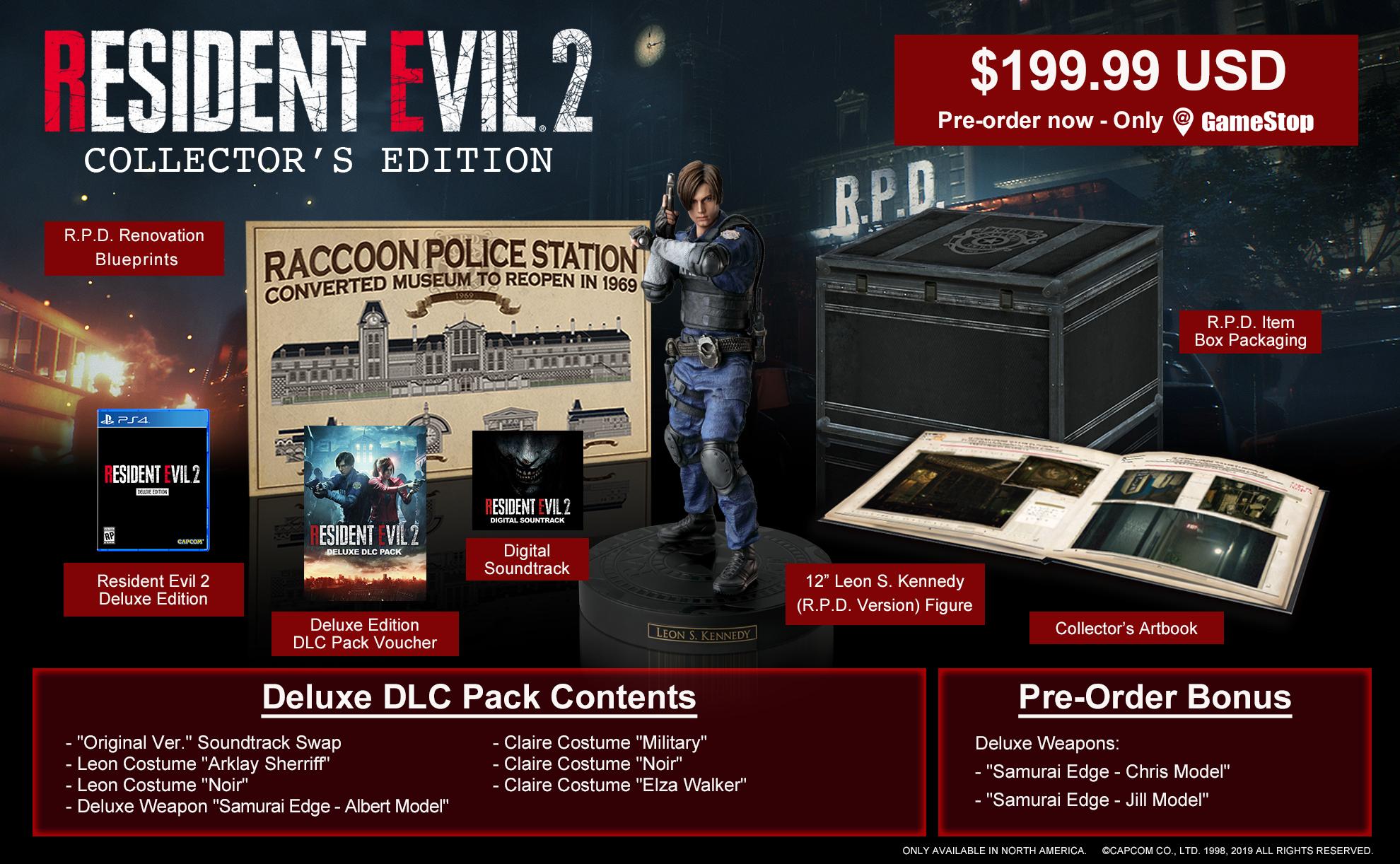 Edição de colecionador do remake de Resident Evil 2