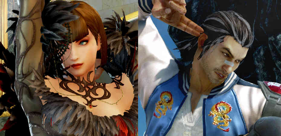 Anna Williams e Lei Wulong em Tekken 7