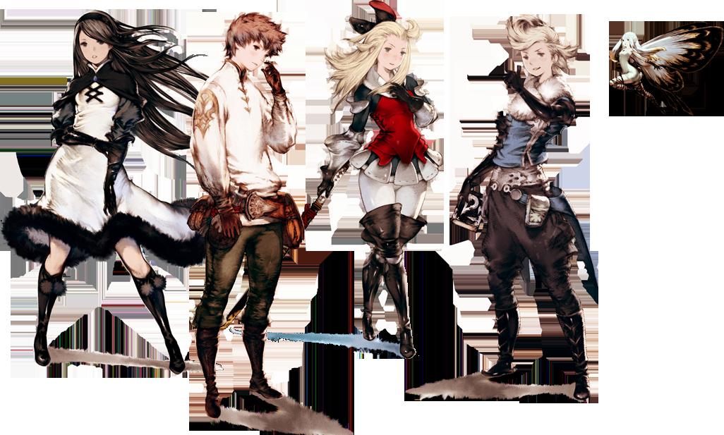 Personagens de Bravely Default, não relacionado a Bravely OOOOO