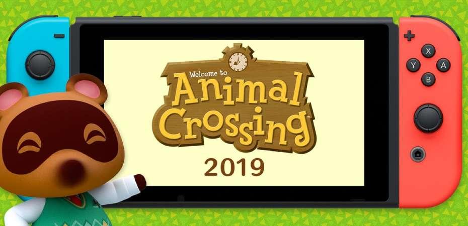 Imagem de novo título da série Animal Crossing 2019