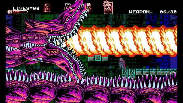 Boss de Bloodstained: Curse of the Moon