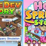 Artwork de Game Dev Story e Hot Springs Story