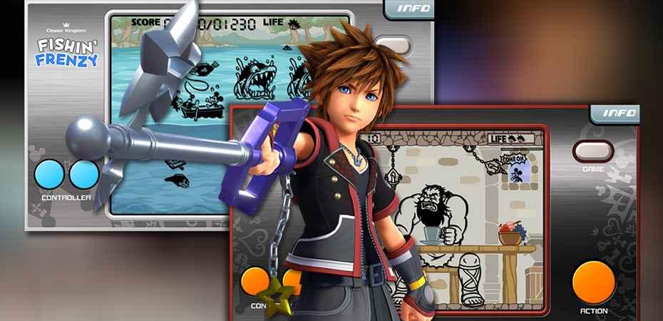 "Minigames ""Classic Kingdom"" de Kingdom Hearts III em Kingdom Hearts Union X"
