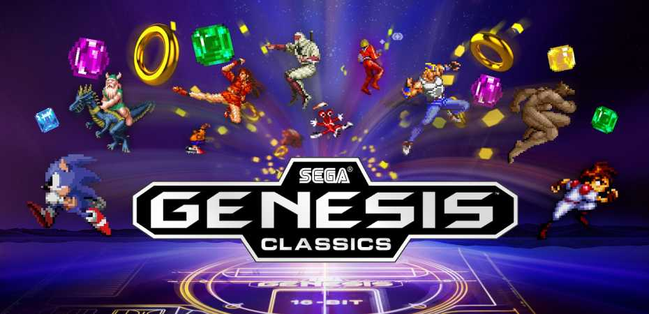 Logo e arte de Sega Genesis Classics