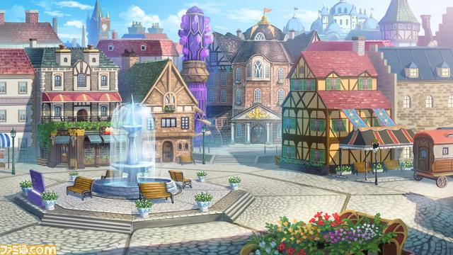 Artwork da cidade de Arland para Atelier Rurua