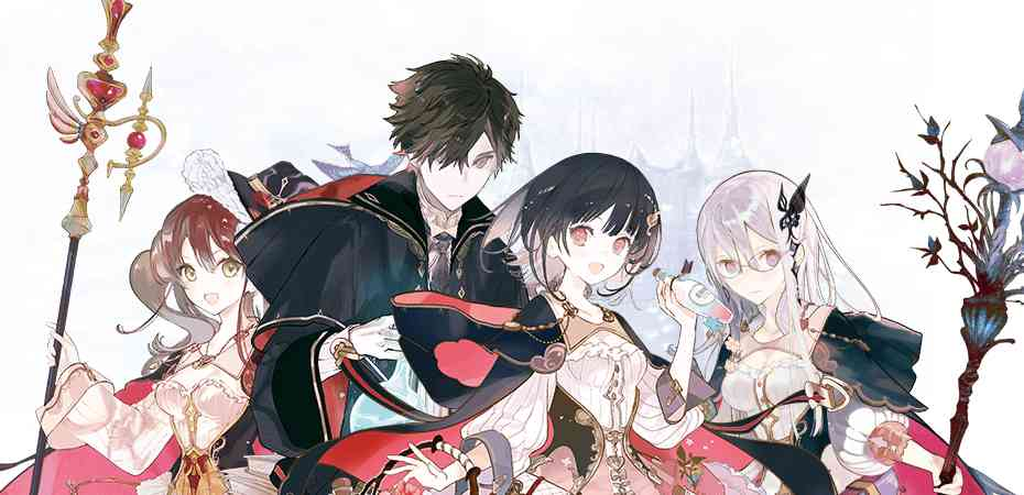 Ilustrações de personagens de Atelier Online