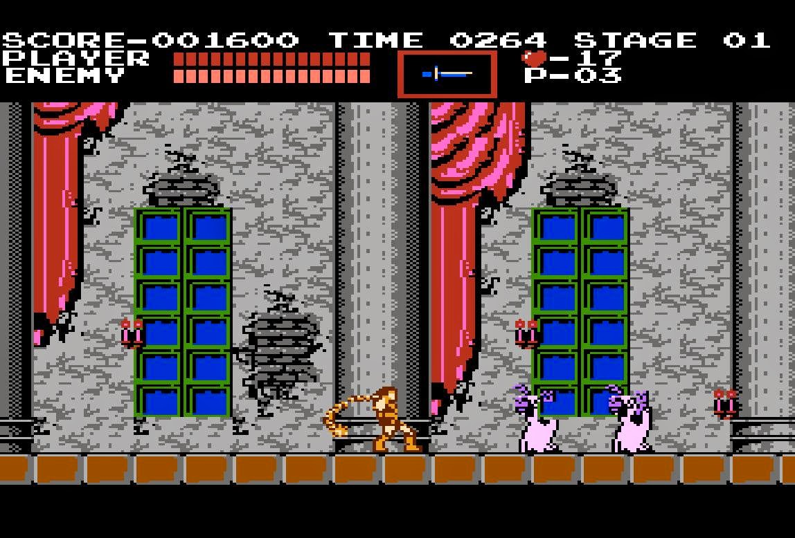 Screenshot do primeiro Castlevania