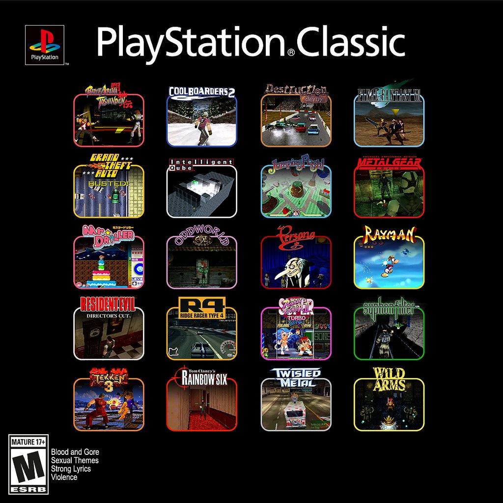 Lista de jogos do PlayStation Classic