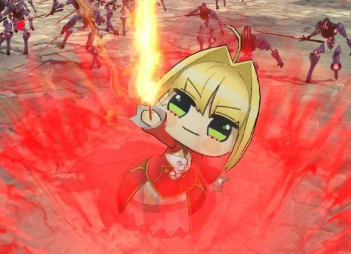 "Nero com visual ""Punipuni"" em Fate/Extella Link"