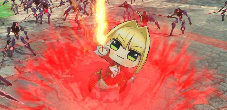 "Nero com visual ""Punipuni"" em Fate/Extella Link"