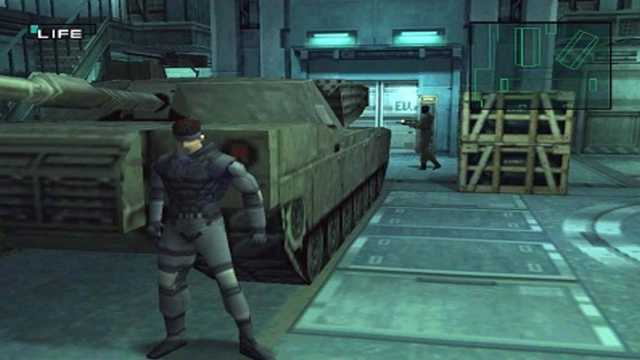 Screenshot de Metal Gear Solid, um dos títulos incluídos no PlayStation Classic
