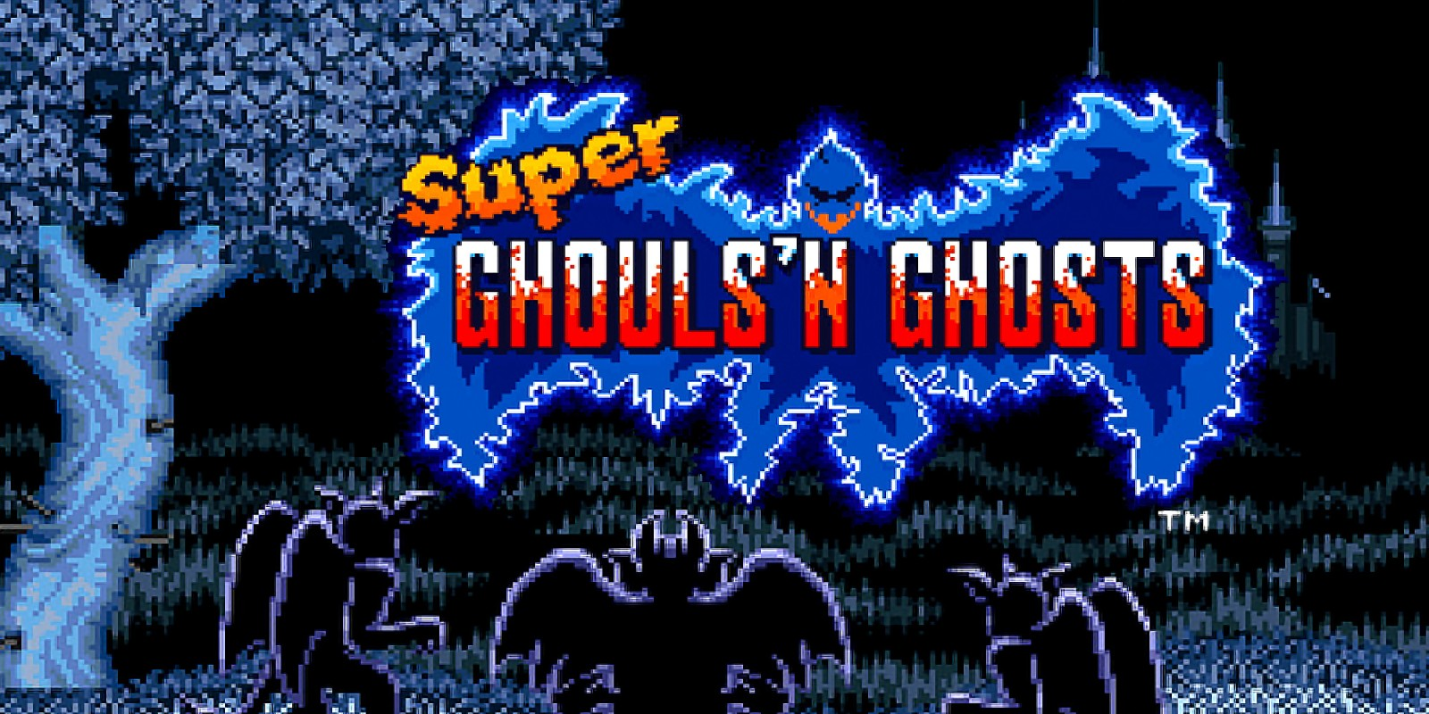 Tela de título de Super Ghouls 'n Ghosts