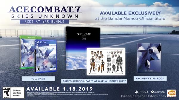 "Edição especial ""Aces At War Bundle"" de Ace Combat 7: Skies Unknown."