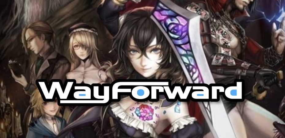 Logo da WayForward e arte de Bloodstained: Ritual of the Night