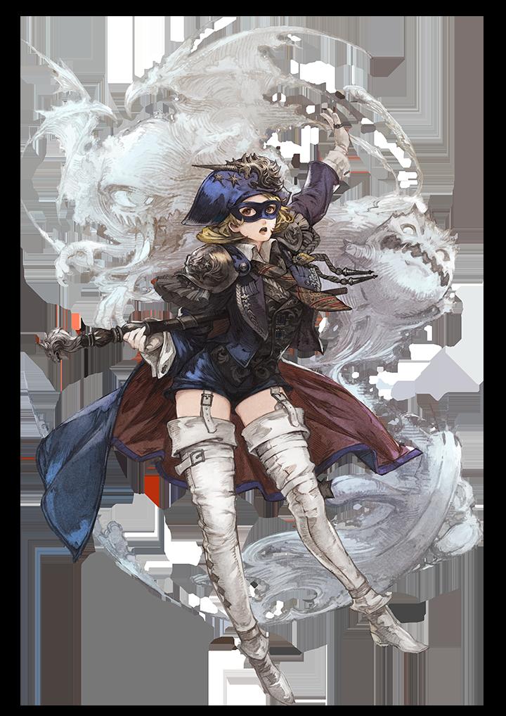 Ilustração do job Blue Mage de Final Fantasy XIV