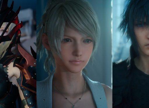 Aranea, Lunafreya, e Noctis de Final Fantasy XV