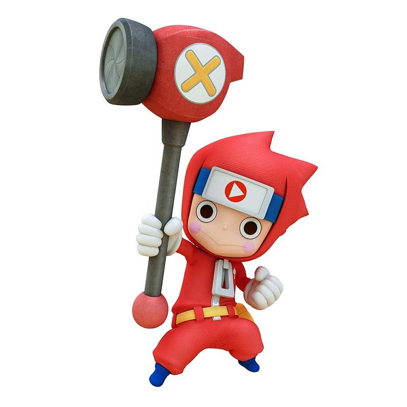 Modelo 3D de Tonkachi do jogo Ninja Box
