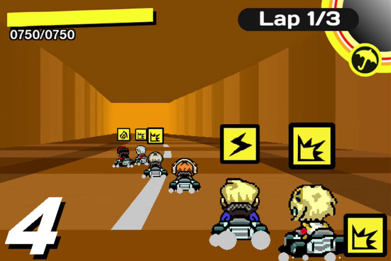 Screenshot do fan-game Persona 4: Racing All Afternoon