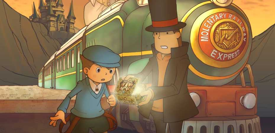 Arte de Professor Layton and the Diabolical Box