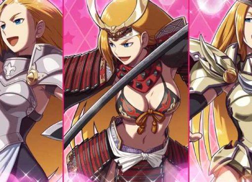 Arte de diferentes trajes da personagem Jeanne de SNK Heroines: Tag Team Frenzy