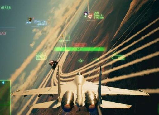 Screenshot do modo multiplayer de Ace Combat 7: Skies Unknown