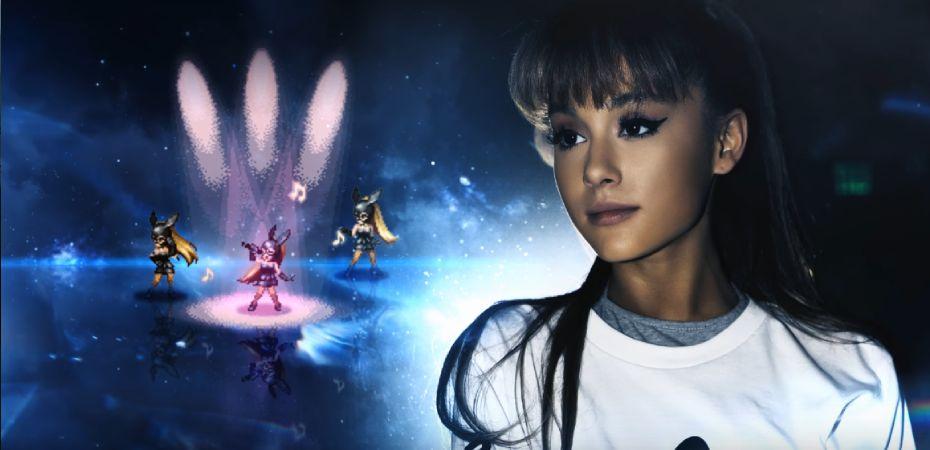 Square Enix lança clipe musical para celebrar a colaboração entre a cantora Ariana Grande e <em data-eio=