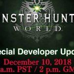 Conferência especial do dia 10 de dezembro da série Monster Hunter: World