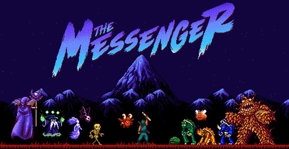 Personagens e logotipo de The Messenger