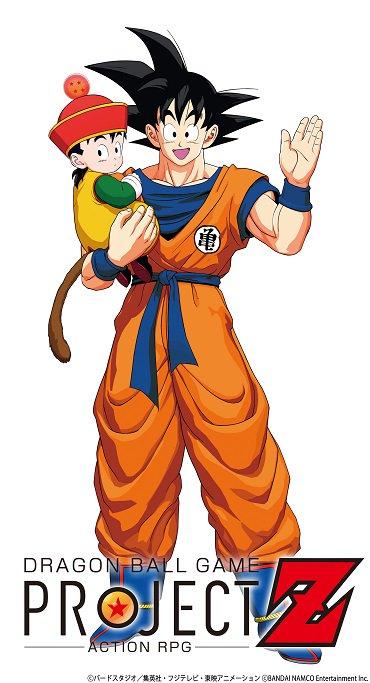 Modelos 3D de Gohan e Goku para o jogo Dragon Ball Project Z