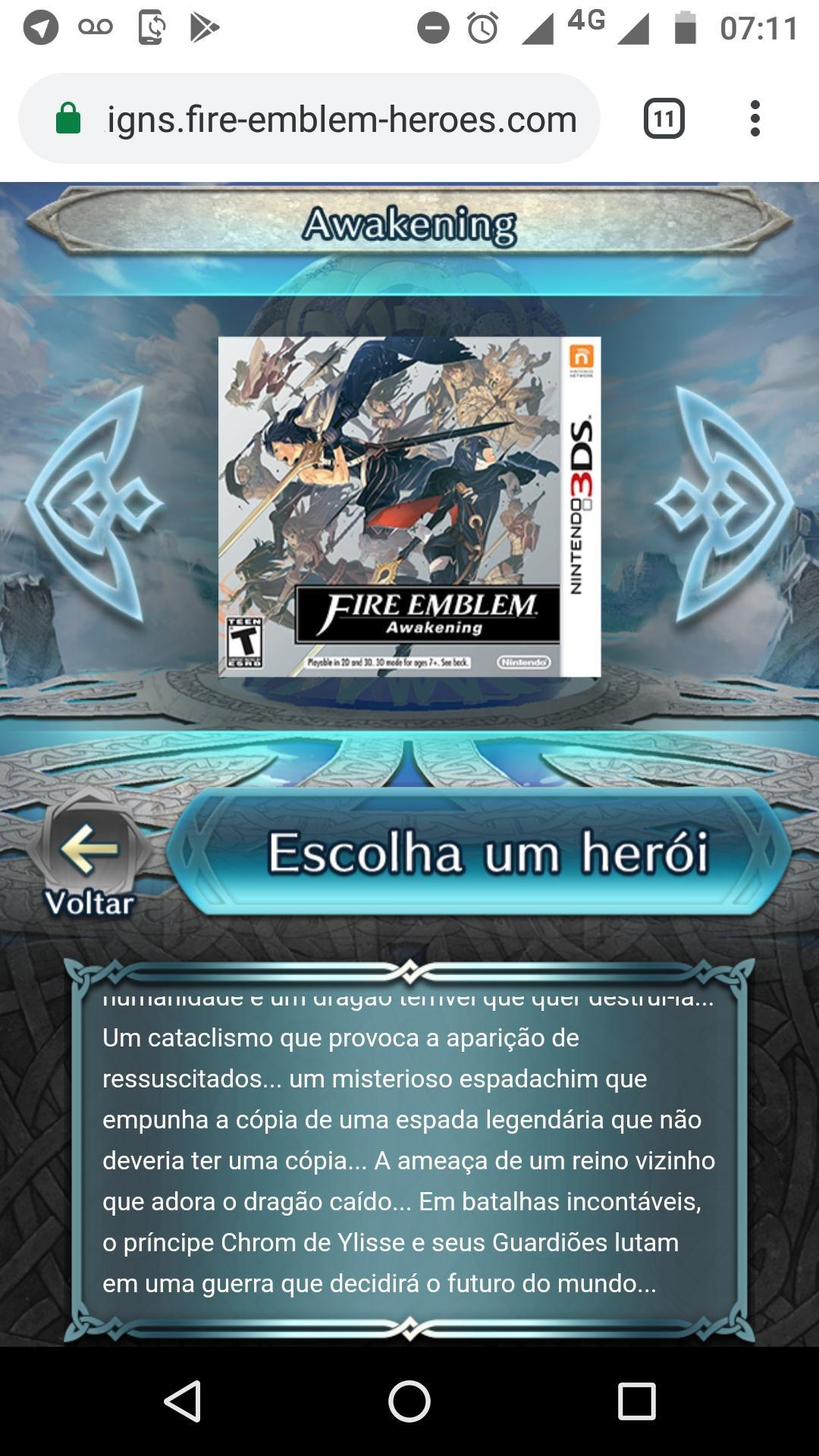 Texto traduzido de Fire Emblem Heroes