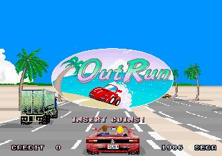 Tela de título do jogo OutRun