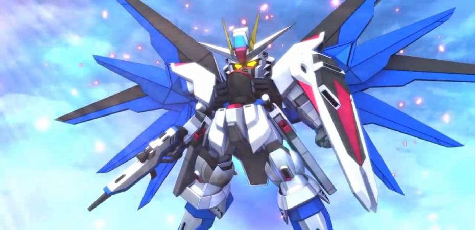 Screengrab do trailer de SD Gundam G Generation Cross Rays